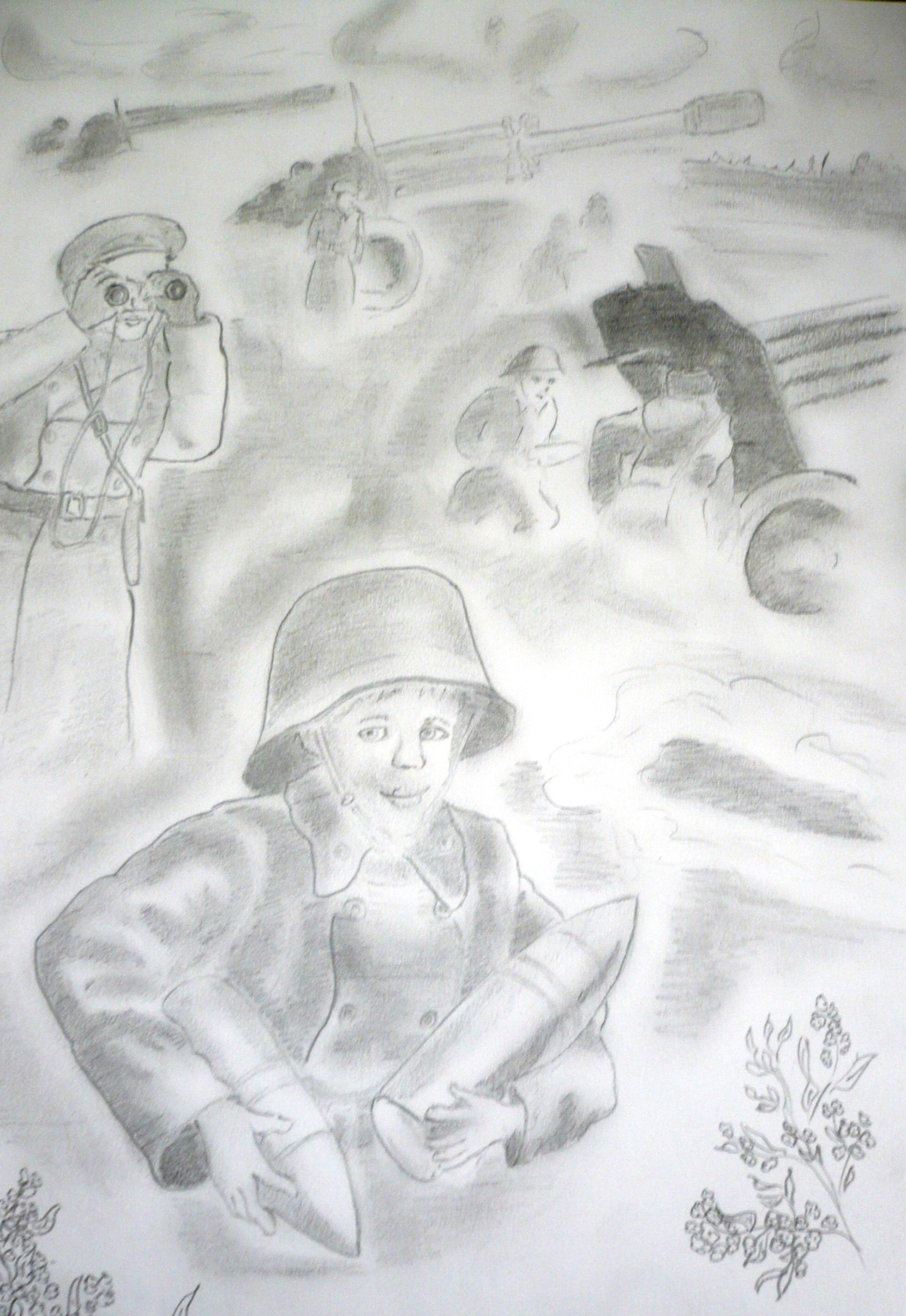 сын полка рисунки